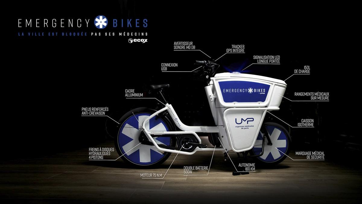 Emergency bike caractéristiques