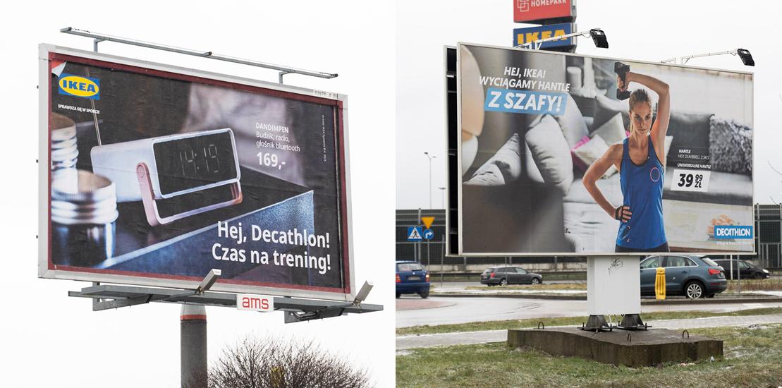 Outdoor advertising - Decathlon Warsaw