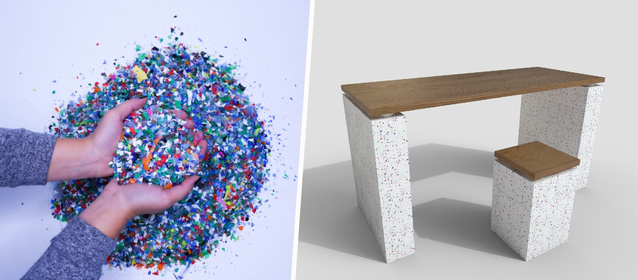 Plastic waste transformed it into 100% recyclable furniture